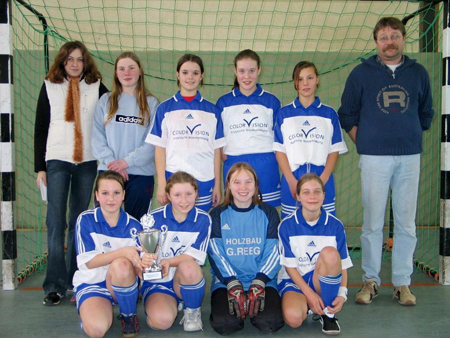 Mädchenmannschaft gewinnt Hallenkreismeisterschaft