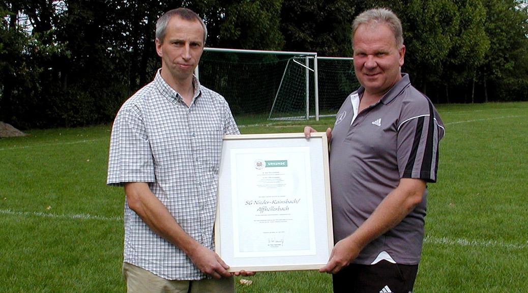 Jugendabteilung wird von der Sepp-Herberger-Stiftung ausgezeichnet