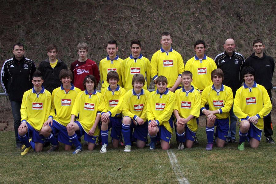 Die B-Junioren am 10. März 2012