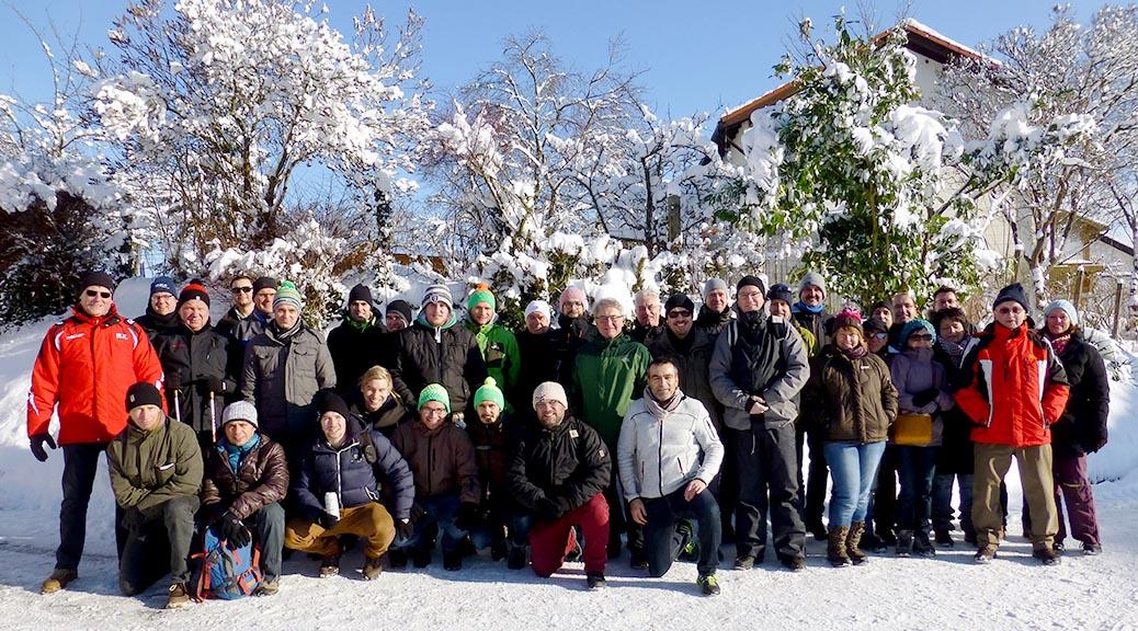 Bei herrlichem Winterwetter beschließt die SG das Jahr mit einer Wanderung durch den Buchwald