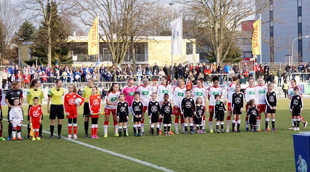 Kids der JSG laufen erneut mit dem FFC Frankfurt ein