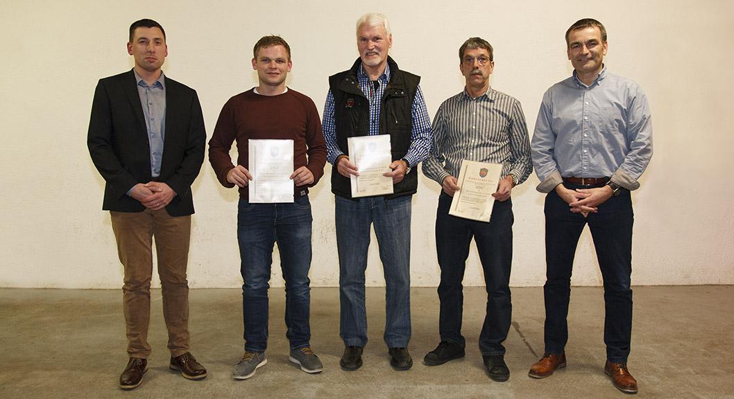 Gemeinde Brensbach zeichnet weitere Vorstandsmitglieder aus