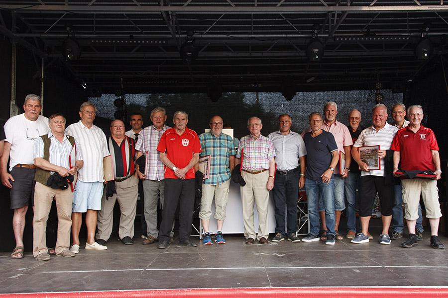 Die Gründungsmitglieder der SG am 14. Juli 2018